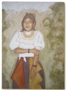 Warmista Bonita, 50.5cmx 70cm, Amazon Earth Pigment on Canvas, 2012.    SOLD